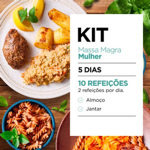 Kit Massa Magra Mulher: Almoço e Jantar - Lucco Fit