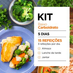 Kit Baixo Carboidrato - Almoço, Jantar e Snacks (Low Carb) - Lucco Fit
